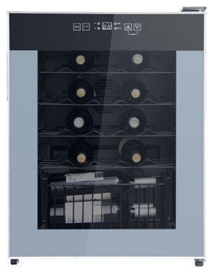Deluxe 24 Bottles Single Zone Wine Cooler 50-85% Humidity Range CE Certificated