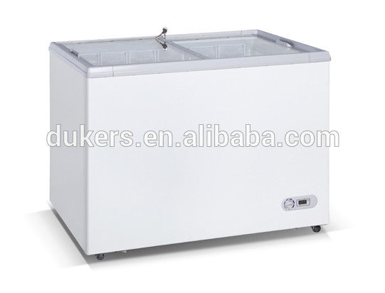 210L Chest Deep Freezer , Commercial Fridge Freezer CE Certificated