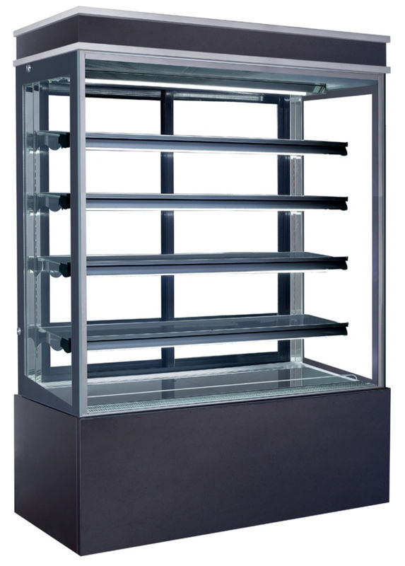 960L Refrigerated Cake Display Cabinets Full LED Light For Each Deck with 1500mm Length and Four-layers Shelves