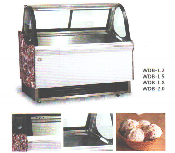 380L Capacity Ice Cream Showcase Freezer With Digital Temp.Controller