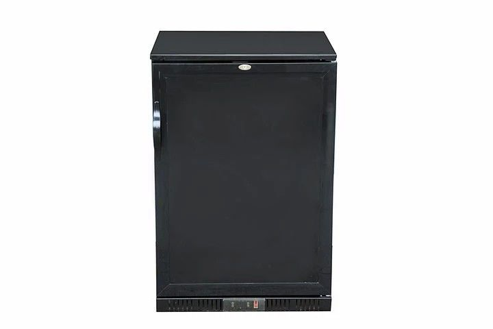 Black 128L Commercial Bar Refrigerator , Single Foaming Door Back Bar Fridge