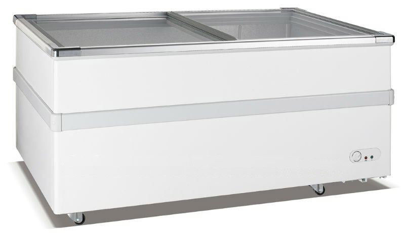 Cold Storage Commercial Chest Freezer / 580L Supermarket Island Freezer